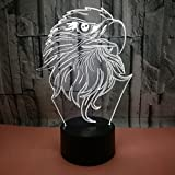 Janron Eagle 3D Nightlight Colorful Touch Gradiente LED Lámpara De Luz Visual Regalo Cool Kids Dormitorio Corredor