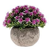 Fenteer Künstliche Gypsophila Bonsai Pflanzen im Topf Kunstpflanze Dekopflanzen Topfpflanzen - Lila