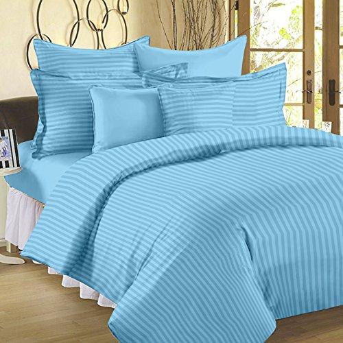 Ahmedabad Cotton 3 Piece 300TC Striped Duvet Cover Set - 90 x...