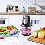 Aicok Zerkleinerer elektrisch Glasbehälter 1,2L BPA Frei, Multizerkleinerer 4 Edelstahl-Messer, Universalzerkleinerer, Zwiebelschneider, 300W, Schwarz Vergleich