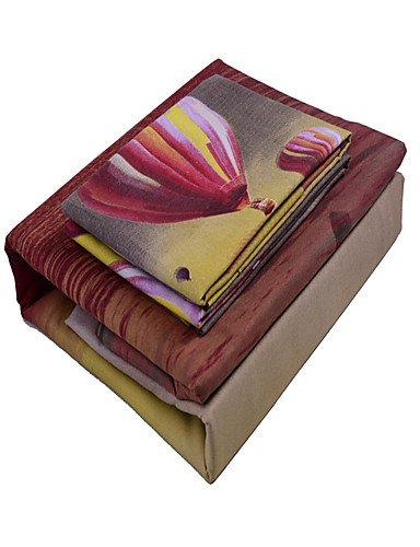 GAOL, vierteilige Anzug,3D (Zufallsmuster) Bettbezug-Sets 3 Stück Polyester Muster Reaktivdruck PolyesterEinzelbett / Doppelbett / ca. 1,50 m breites Doppelbett , twin