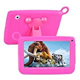 TUFEN Bambini Tablet, Display 7 Pollici, Quad Core 1GB + 8GB, Android 6.0, Doppia Fotocamera, HD 1024*600, Bluetooth, Wifi,Iwawa, PlayStore Google Youtube, Netflix, kindgerechte Custodia in Siliconce