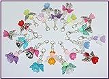 20 Bunt gemischte Perlenengel mit Karabinerhaken, handmade, Schutzengel, Anhänger