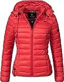 Marikoo Damen Übergangs-Jacke Steppjacke Ein und Alles (Vegan Hergestellt) Rot Gr. XL