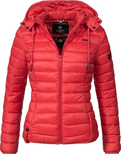 Marikoo Damen Jacke Übergangs-Jacke Steppjacke Ein Und Alles (vegan hergestellt) Rot Gr. M