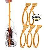 Ablauf Schlange, Haare Verstopfen Reiniger Entferner 20,4 Zoll Spring Pipe Dredging-Tools Haushalt Haarreiniger für Küchenspüle, Bad Wanne, WC für einen Einsatz (Pack of 5)