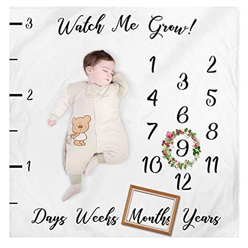 (EisEyen Fotohintergrund für Babyfotos, Meilenstein Babydecke, mit Monaten, Hintergrund/Requisite für Neugeborenenfotos, Babywickeldecke für Fotoaufnahmen)
