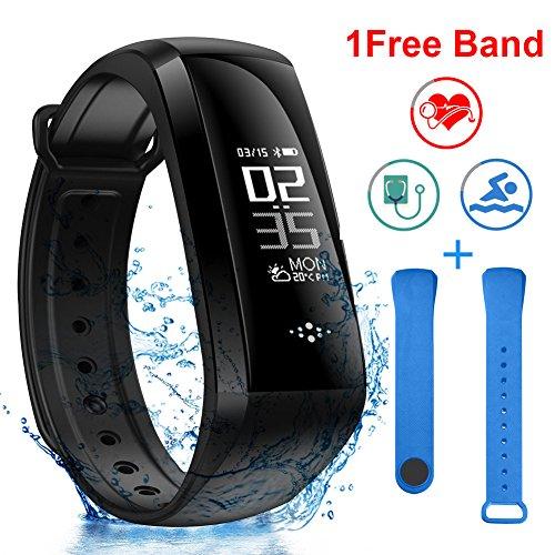 BANLVS Pulsera Actividad con Oxímetro y Presión Arterial Pulsera Inteligente con GPS Pulsómetro Monitor de Ritmo Cardíaco Pulsera de Actividad Impermeable 68 Reloj Inteligente para iOS y Android
