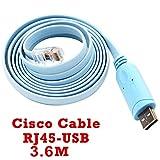 Konsolen kabel mit FTDI Chip Router USB zu RJ45 Für Cisco Gerät Laptop und PC in Windows, Vista, MAC, Linux 3.6M