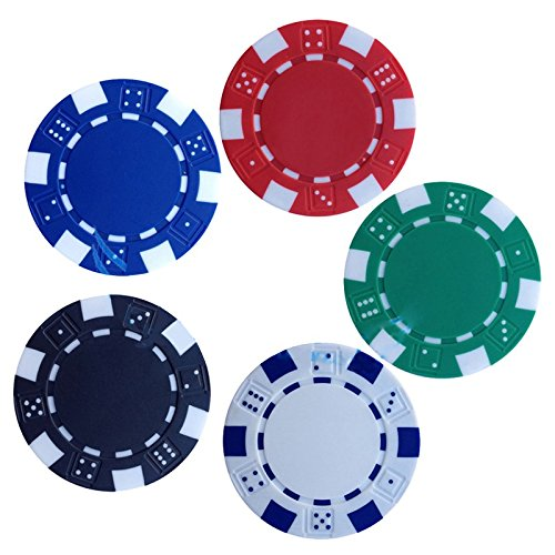 Kids Mandi™ 11.5 Gms Round Ceramic Poker Chips Set (100)  available at amazon for Rs.499