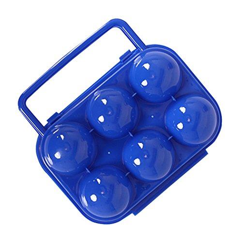 SIPLIV Eierbecher Ei Aufbewahrungsbox Falten tragbare Kunststoffbox 6 Eier für Küche Kühlschrank Lagerung im Freien Wandern Camping (Lagerung Camping-küche)