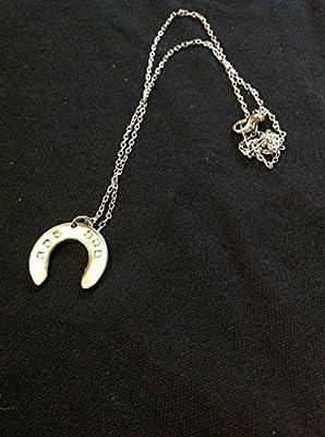 Bijoux , collier , pendentif fer à cheval , porte bonheur fait main