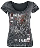 Five Finger Death Punch and Justice for None T-Shirt schwarz/Used Look S