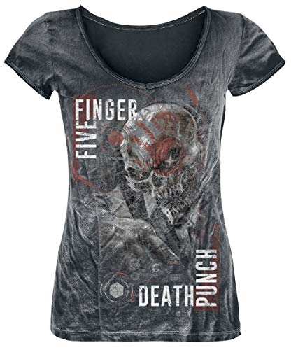 Five Finger Death Punch and Justice for None T-Shirt schwarz/Used Look M -