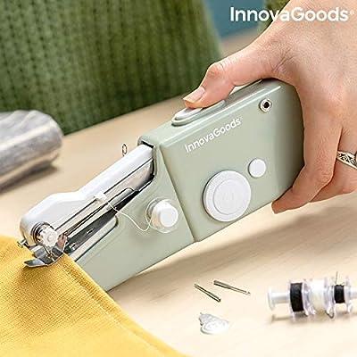 InnovaGoods Máquina de Coser de Mano Portátil de Viaje Sewket, Gris, 20,5 x 7 x 3 cm