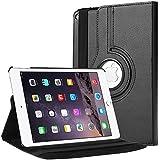 Housse ipad air 2,Bingsale 360 à Housse en cuir pour iPad Air 2 avec rabat/stand de positionnement support et le sort de veille (iPad Air 2, noir)
