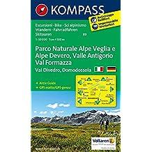 Carta escursionistica n. 89. Domodossola. Adatto a GPS. Digital map. DVD-ROM
