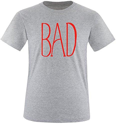 EZYshirt® BAD Herren Rundhals T-Shirt Grau/Rot