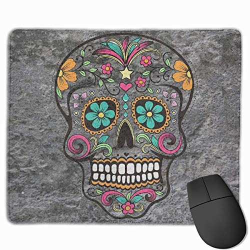 Sweet Skull Head Non-Slip Rubber Mouse Mat Mouse Pad for Desktops, Computer, PC and Laptops 9.8 X 11.8 inch (25x30cm)