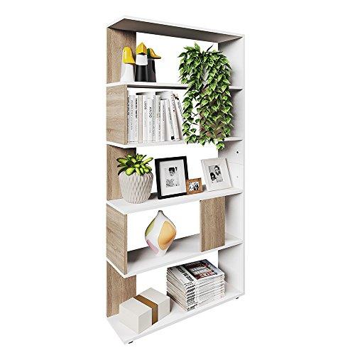 *VICCO Raumteiler Raumtrenner Bücherregal Standregal Aktenregal Hochregal Aufbewahrung Regal (Sonoma Eiche (groß))*