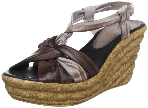 Maybe 4115, Sandales femme - Multicolore Multicolore (Niger-Taupe)