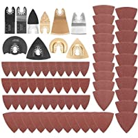 Cuchilla de Corte Afilada 70 piezas for Fein Bosch Dremel Makita Ridgid Oscilante Multiherramienta Hoja de Sierra Conjunto Hoja de Sierra