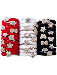 FULLY Graceful & Fashionable Hair Accessories / Hair Bands / Rubber Bands For Hair Styling, Red / White / Black...