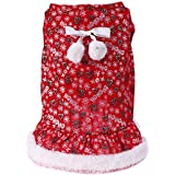 Rrimin Pet Dog Cat Bowknot Dress Cute Letters Printed Puppy Christmas Dress Cloth M