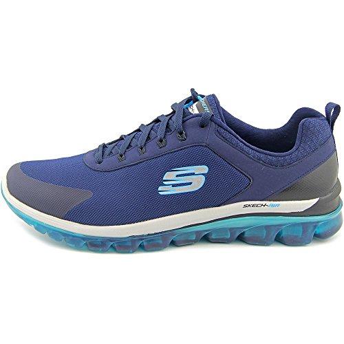 Skechers Sketch Air 2.0 Quick Times Hommes Chaussure de Marche Bleu marine/bleu