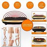 POWRX Vibrationsplatte Basic Duo   Fitness Trainingsgerät inkl. Fernbedienung und Tubes Widerstandsbänder   Große RUTSCHFESTE Fläche für Ganzkörper Training (Schwarz-Rot)