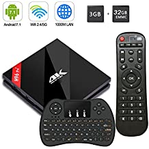 H96 Pro Plus Android 7.1 TV Box [3GB/32GB/4K] Amlogic S912 Octa-core 64 Bits CPU Dual WiFi 2.4 GHz/5.0 GHz Bluetooth 4.1 H.265 con Mini Teclado Inalámbrico Smart TV Box