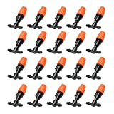 Anself 20pcs Small Size Plastic Adjustable Sprayer Nozzles Suits Garden Water Cooling Spray Sprinkler Nozzle Suit Drip Irrigation Pipe Equipment with Hose Connector