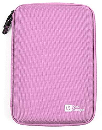 Rosa Tasche | Etui | Hard Case | Schutzhülle, robustes Ethylenvinylacetat (EVA Material), mit Klettverschluss und Zusatzfach für Casio FX-CG20-LA-EH | Casio FX-9750GII-LC-UH Grafikrechner Grafische Taschenrechner (Rechner ist NICHT im Lieferumfang enthalten!)