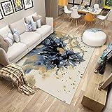 DAMENGXIANG Nordic Abstrakte Teppich Für Wohnzimmer Couchtisch Schlafzimmer Rutschfeste Bodenmatte Wohnkultur Fuß Pad 70 × 180 cm