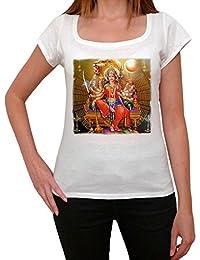 Durga T-shirt Femme,Blanc, t shirt femme,cadeau