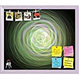 ArtzFolio Digital Fractal Printed Bulletin Board Notice Pin Board cum White Framed Painting 13.9 x 12inch