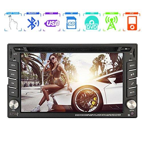 EINCAR Windows CE 6.0 1080P 6.2 Zoll TFT Touch-Screen-Funkempfänger USB-Autoradio GPS-Navigation FM AM PC System 2 Din SD In Dash Head Unit Auto-DVD-Player Video Bluetooth Audio Car Stereo Aux