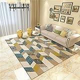 carpet Waschbar Waschbar Haltbar Teppich Super-Qualität Soft Lounge Modern Schlafzimmer Shop Couchtisch Schlafsofa Home Wohnzimmer Slip Nicht Reizende Teppich Home Daily, 140 * 200 cm