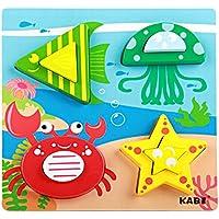 NaiCasy Puzzle Ladrillos Juguete Dibujos Animados Madera 3D Tridimensional Puzzle Ladrillos Juguete frühes Aprendizaje Juguete para el Aprendizaje Mar