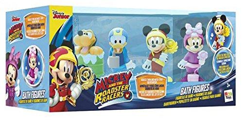 IMC Toys- Mickey Mouse Pack 4 Figuras baño Miniatura, Multicolor, 30 x 17 cm (182776)