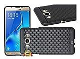 4 GADGETS samsung-j5 2016 360* Protection Premium Dotted Designed Soft Back Case Cover(black)