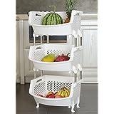 Gemüse Obst Küche Regal Lagerung Korb Lagerung Regalboden Multilayer  Zubehör Utensilien Korb Weiß Regale ( Stil