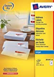 Avery J8160-100 A4 Sheet Address Labels for Inkjet Printers - White, 100 Sheets