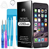 Batteria per iPhone 6, Suzi 2280mAh Batteria Sostitutiva ad alta Capacità 0 Ciclo, Kit Attrezzi Professionali Completi con istruzioni