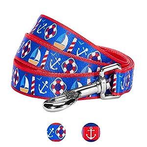 Machen Sie sich darauf gefasst, viele maritime Symbole auf einer einzigen Leine der 'Bon Voyage' Kollektion - Blueberry Pet's erster Seemanns- und Marine-Hundeleine - zu entdecken. Unser Designer hat die Leuchttürme, Ankern, Friedenstauben, Bojen und...