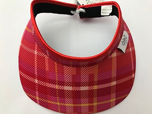 New Ladies Glove IT Limoncello Plaid Golf Coil Visor. -