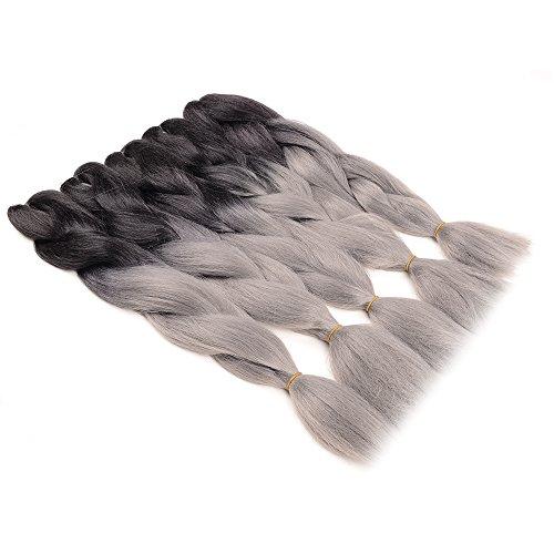 WIGENIUS Jumbo Braids 100% Kanekalon Fiber Braiding Hair Ombre Color 24