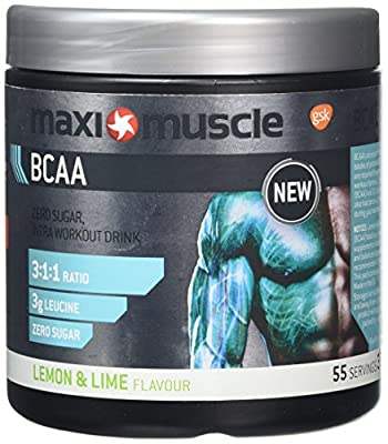 MaxiMuscle BCAA Powder, Lemon and Lime, 330 g by MaxiMuscle