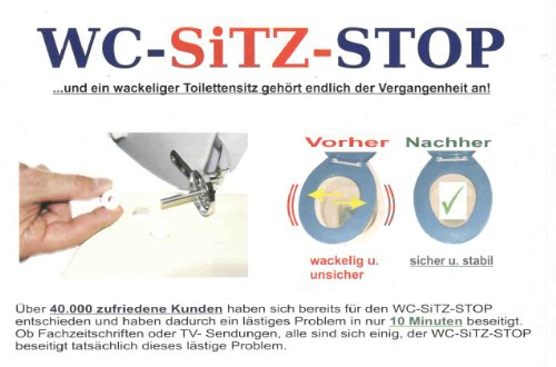WC-Sitz-Stop (für 8 mm Bohrung!) (Das Wackeln des Toliettensitzes hat ein Ende! - Toilettensitzbefestigung)
