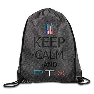 GDESFR NCKG Keep Calm and Pentatonix PTX Durable Cinch Backpack Camping Valise Bag